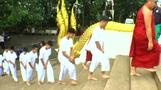 Candles and chanting: Thai cave boys in ceremony to become Buddhist novices