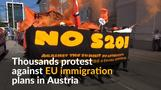 Migration and refugee activists protest Europe pushing borders outwards