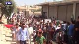 مظاهرات في إدلب وحماة ضد الحكومة السورية