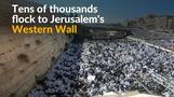 Masses flock to Western Wall for priestly blessing