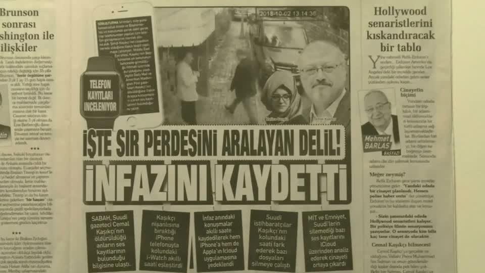 Turkey has recordings of alleged Saudi murder - paper
