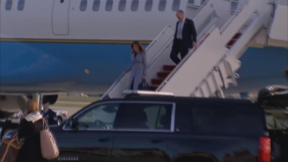 Melania Trump's plane makes emergency landing