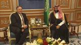 米国務長官がサウジ訪問、渦中のムハンマド皇太子らと会談(字幕・16日)