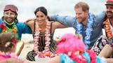 Prince Harry and Meghan group hug on Bondi beach
