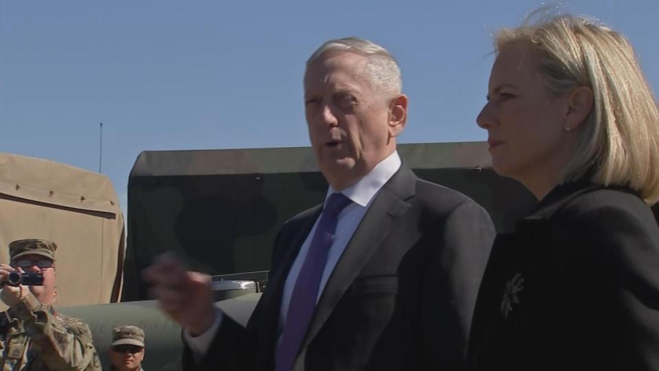 Mattis, Nielsen visit U.S-Mexico border