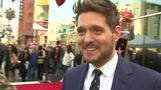 Crooner Michael Buble receives star on the Hollywood Walk of Fame