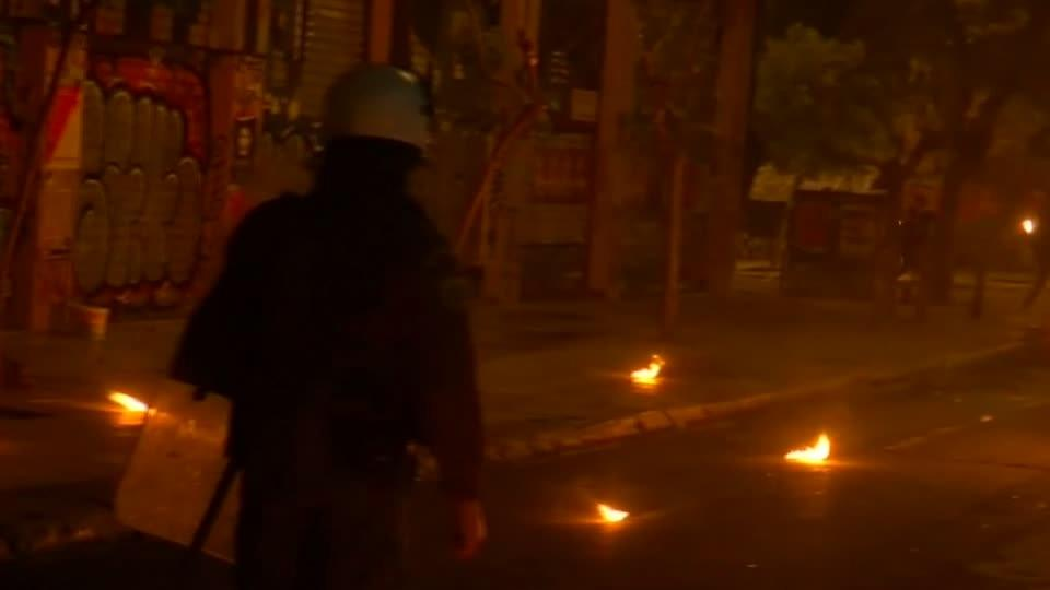 Greek police and protesters clash in central Athens