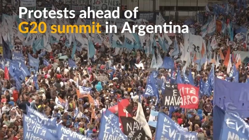 Argentina's social groups protest ahead of G20 summit