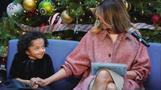 メラニア夫人、ワシントンの子ども病院で本の読み聞かせ(13日)