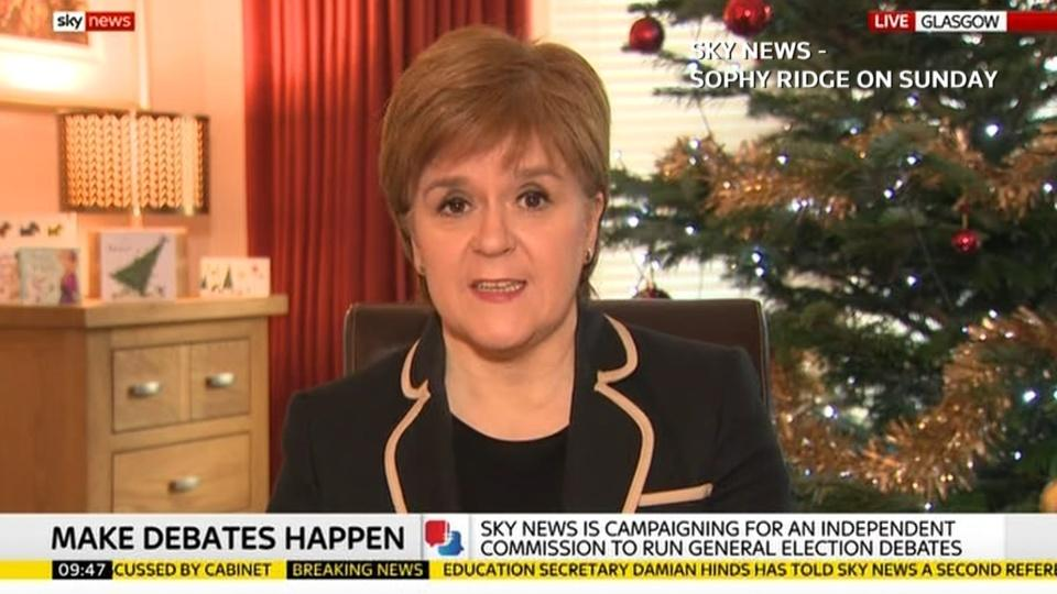 Confidence motion against UK government could pass - Scotland's Sturgeon