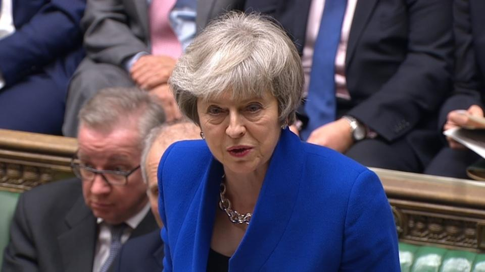 British PM May's government survives no confidence vote