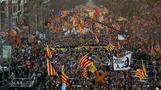 Hunderttausende Unabhängigkeits-Befürworter protestieren in Barcelona