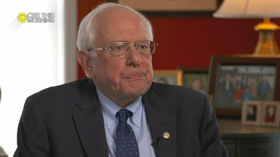 Sanders says he's running for president