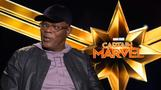 Brie Larson and Samuel L. Jackson talk Marvel at the Oscars