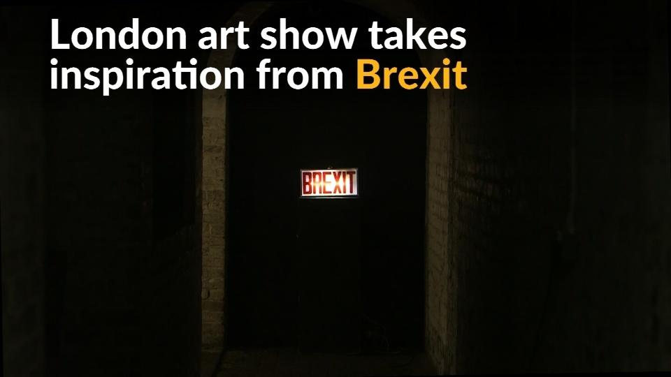 Art imitates Brexit chaos in London exhibition
