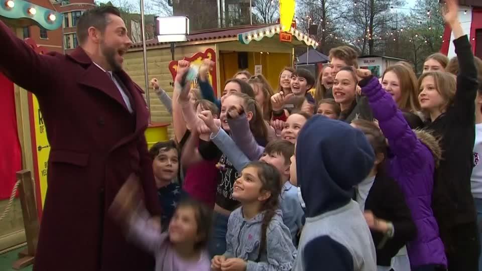 DC 'Shazam!', Zachary Levi opens funfair in London