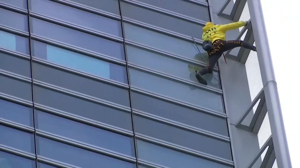 French 'Spiderman' climbs skyscraper to save crumbling Notre-Dame cathedral