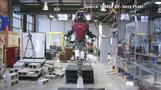 Humanoid robot walks tightrope-like walkway