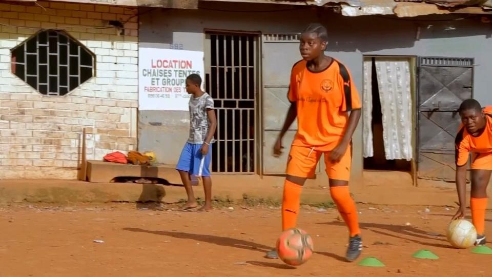 Cameroon girl's mission to become professional footballer