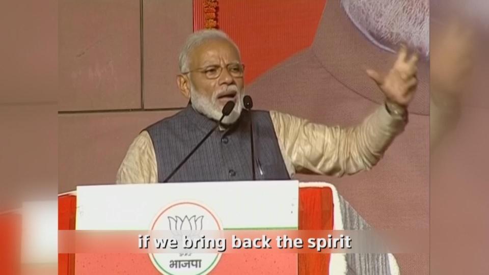 India's Modi dedicates win to the people