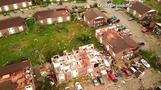 Drone video shows devastation from 'massive' Missouri tornado