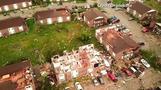 Drone video shows devastation from 'massive' Missouri tornado