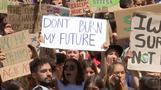 Thousands of young activists gather across the globe demanding action against climate change