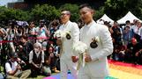 First of Taiwan's same-sex couples legally marry