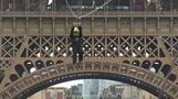 'Once in a lifetime' Eiffel Tower zipline celebrates French Open