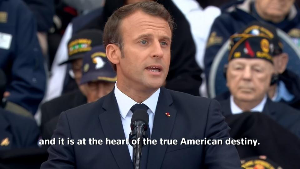 Macron hails multi-lateralism on D-Day anniversary