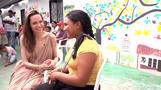 Angelina Jolie visits Venezuelan refugees