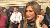 Aniston and Sandler talk each other up at 'Murder Mystery' premiere