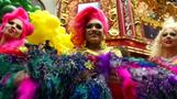 Dancing drag queens and rainbow feathers set record in NY's Times Square