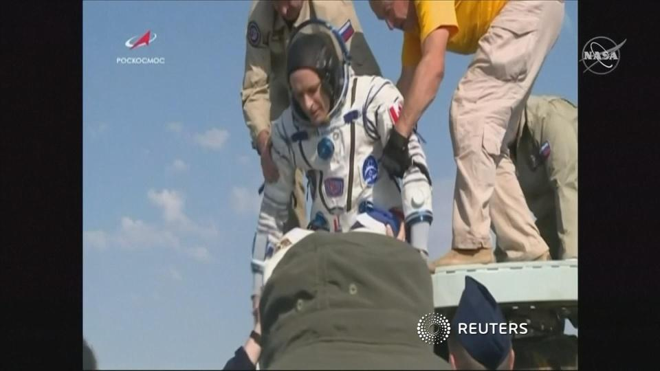 Touchdown: ISS crew returns to Earth