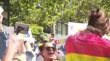 Kamala Harris dances in rainbow sequins at Pride parade