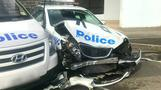 Van packed with drugs slams into Australian police car