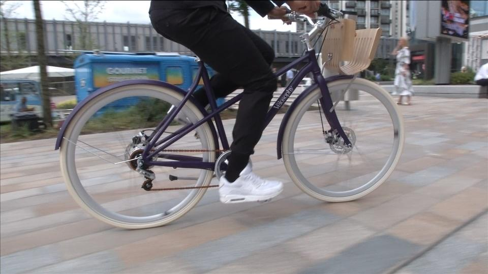 Now that's upcycling! Used Nespresso pods made into bikes