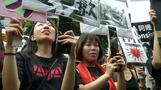台北で慰安婦問題の抗議活動、数十人が公式謝罪と賠償要求(字幕・14日)