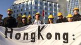 Hongkong-Protest vor chinesischer Botschaft