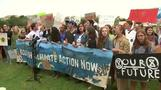 Teenage activist Greta Thunberg joins student climate protesters
