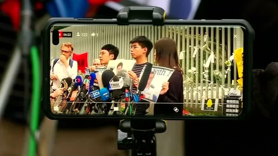 Hong Kong democracy activist seeks US support