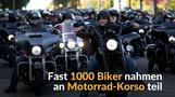 Biker demonstrieren gegen Kutten-Verbot