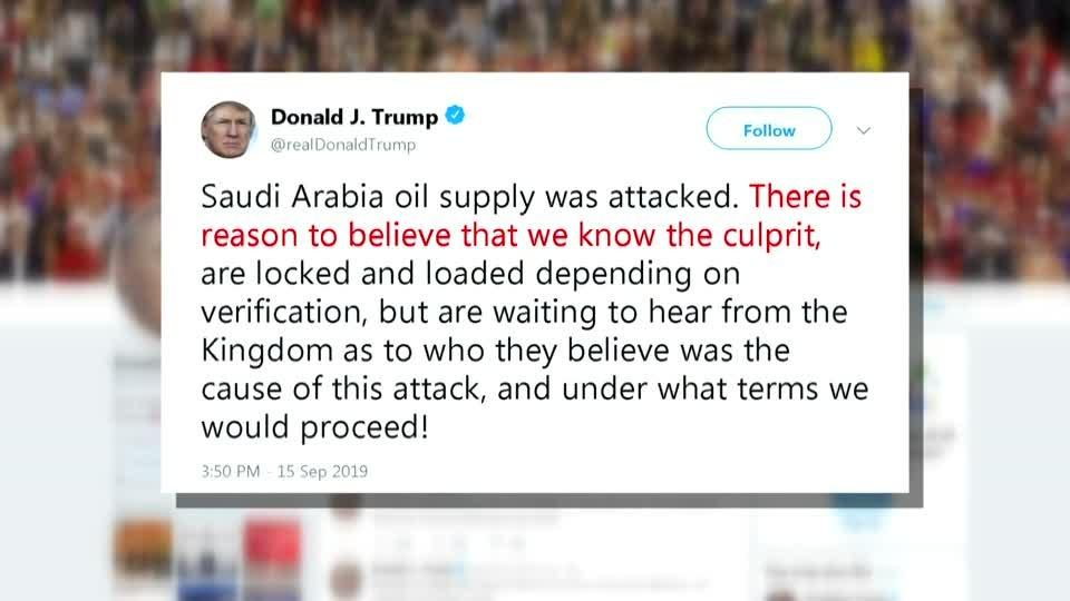 U.S. 'locked and loaded' after Saudi attack