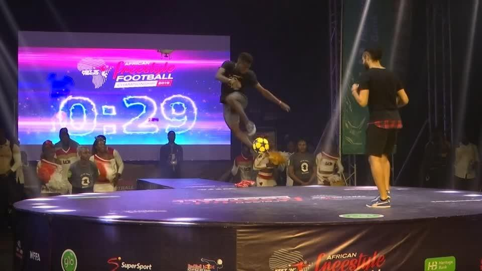 Africa's freestyle footballers show off their tricks in Nigeria