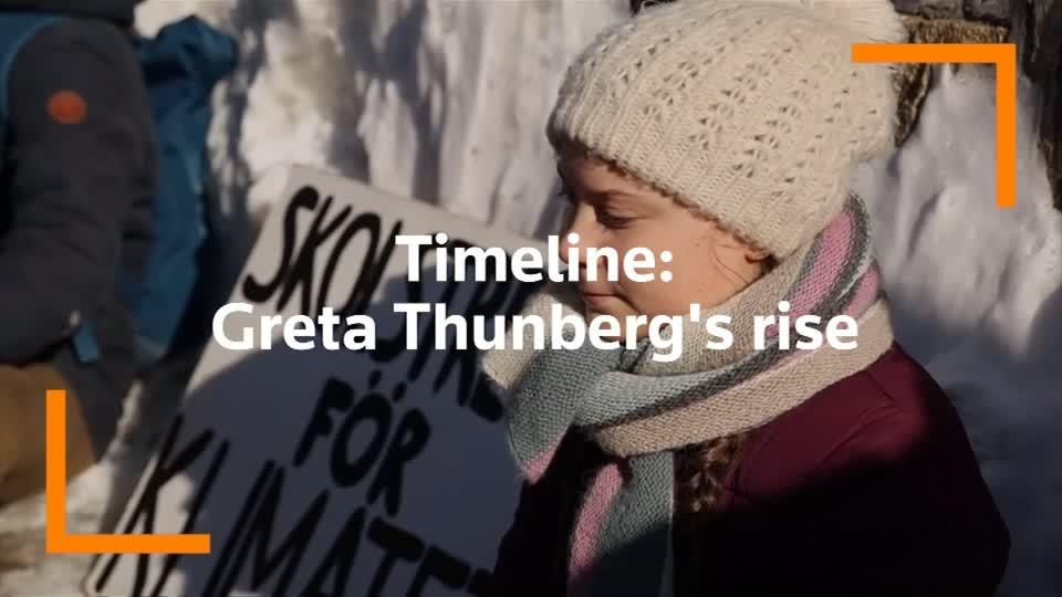 Timeline: Greta Thunberg's rise from a solo strike to the U.N.