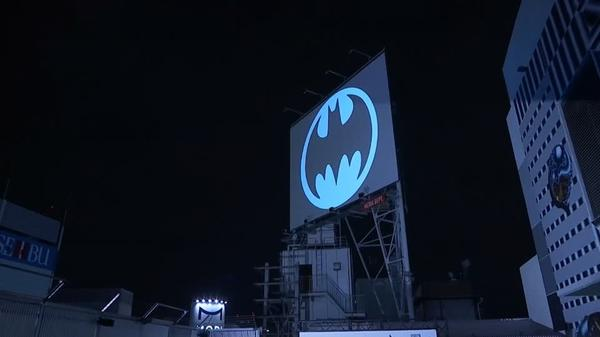 'Bat-Signal' shines light on Batman's 80th anniversary in Tokyo