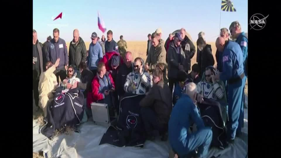 Trio of astronauts leave ISS and return to Earth