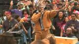 Kanye makes surprise appearance at Howard University