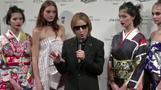 Japanese rock legend Yoshiki lights up the runway
