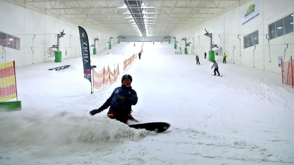 Amputee ex-soldier aims for Paralympic glory with world-first snowboard design